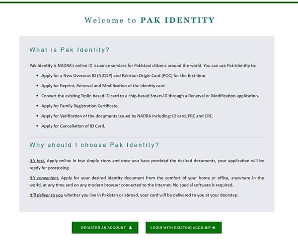 Apply POC card online